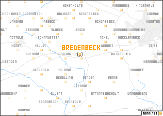 map of Bredenbeck