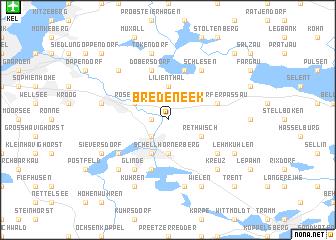 map of Bredeneek