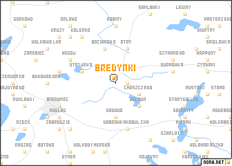 map of Bredynki