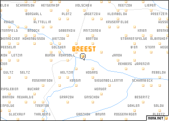 map of Breest