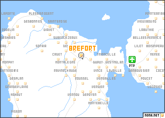 map of Bréfort