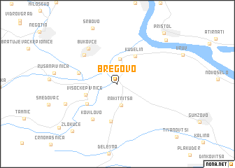 map of Bregovo