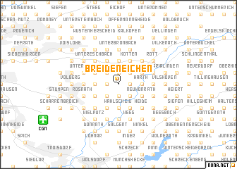 map of Breideneichen