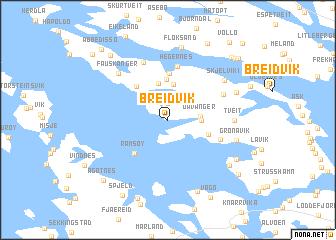 map of Breidvik