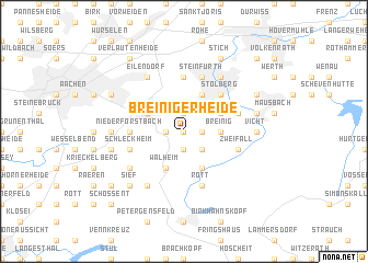 map of Breinigerheide