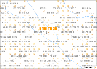 map of Breitegg