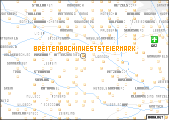 map of Breitenbach in Weststeiermark