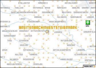 map of Breitenbach in Weststeiermark