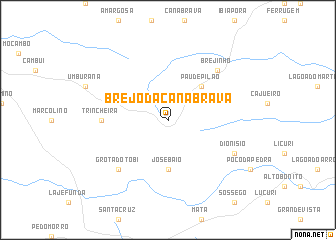 map of Brejo da Canabrava