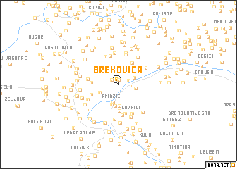 map of Brekovica