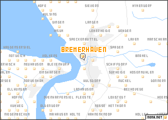 Bremerhaven Germany Map Nonanet - Germany map bremen