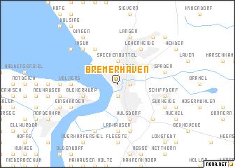 Bremerhaven (Germany) map   nona.net