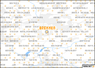 map of Bremmen