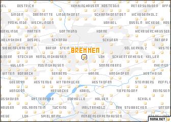 map of Bremmen