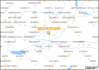 map of Brenkenhof