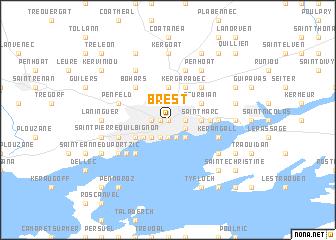 Brest France Map Nona Net