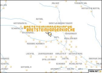 map of Bretstein vor der Kirche