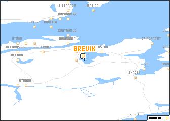 map of Brevik