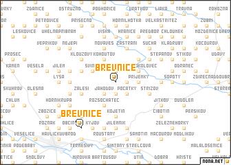 map of Břevnice