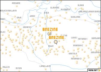 map of Brezine