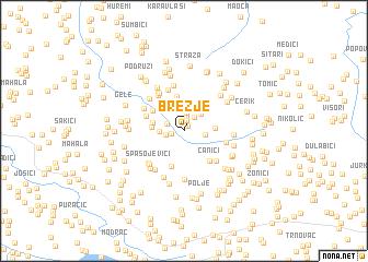 map of Brezje