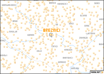map of Breznići