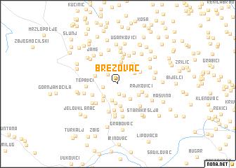 map of Brezovac