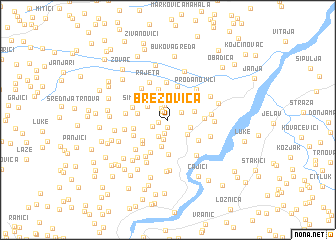 map of Brezovica