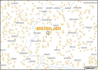 map of Brezovljani