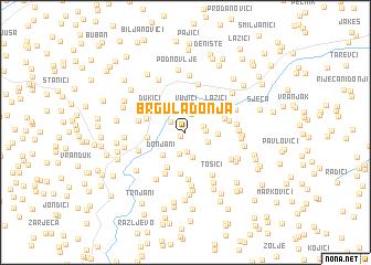 map of Brgula Donja