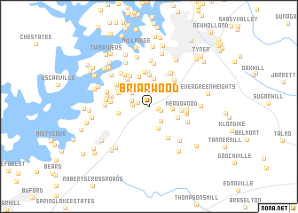 map of Briarwood