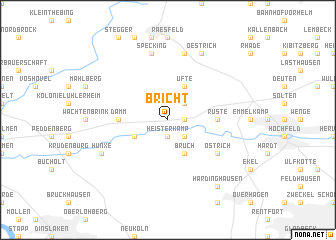 map of Bricht