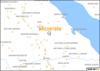 map of Brick Store
