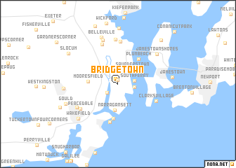 Bridgetown United States USA map nonanet
