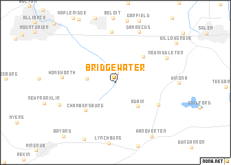 map of Bridgewater