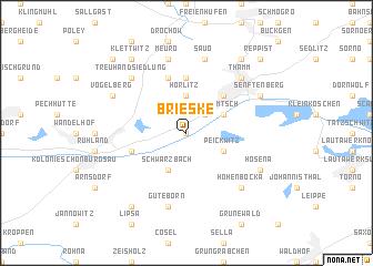 map of Brieske