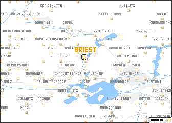 map of Briest