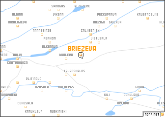 map of Brieževa