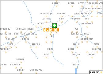 map of Brignon