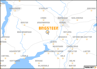 map of Brigsteer