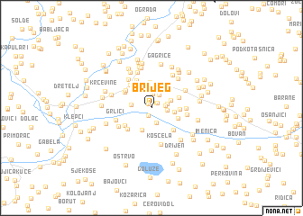 map of Brijeg