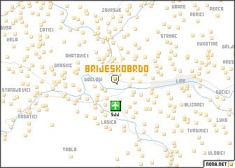 map of Briješko Brdo