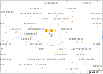 map of Brinat