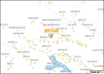 map of Brinje