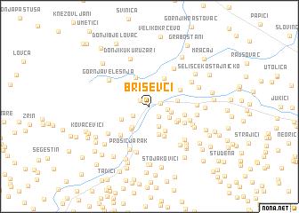 map of Briševci