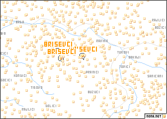 map of Briševci