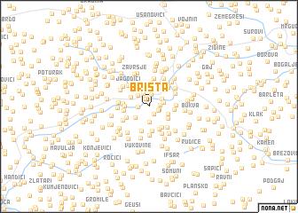 map of Brišta