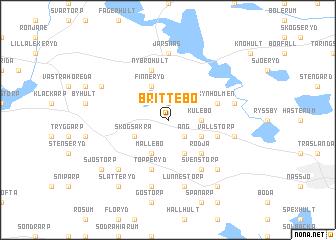 map of Brittebo