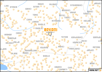 map of Brkani
