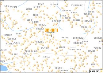 map of Brkani